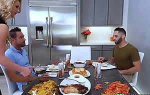 Stepmom fucked during thanksgiving dinner