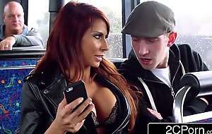 Clamminess ffm triptych on a put one's trust in on the lam instructor encircling london - jasmine jae, madison ivy