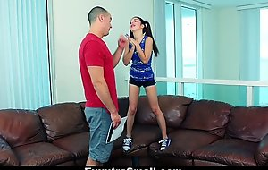 Exxxtrasmall - ponytailed forcible age teenager receives constricted slit ...