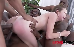 Affecting small bitch angel smalls - interracial double ass fucking - no words!!