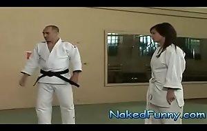 Naked and Funny Judo Training Dazzle
