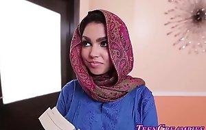 Busty muslim legal age teenager creamed