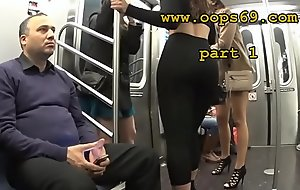 Groping her gorged with train
