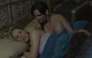 Sex-starved mature kissing and licking down young girl