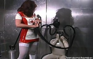 Erotic asphyxiation breath play femdom