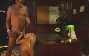Glamorous explicit with natural boobs gets pounded on the table