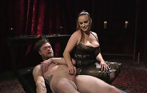 Submissive scrounger receives anally fucked by horny mistress