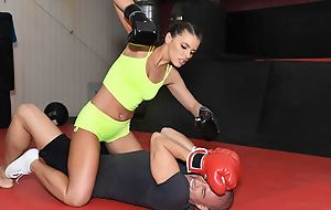 Remarkable boxer chick gets nuisance fucked in the gym