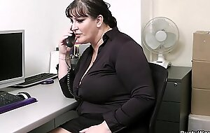 Office sex with busty women at one's disposal work