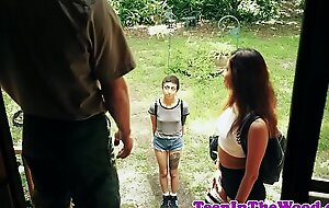 Hardfucked teen facialized off out of one's mind strut ranger