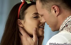 Euro babe banged doggystyle by her bf