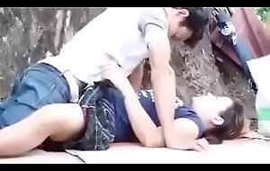 Sexy Japanese Copule Sex at bottom Public