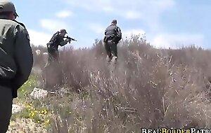 Deflected Hispanic Border Hopper Sucking Border Gaurd