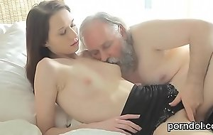 Cuddly university girl gets enticed and screwed by her senior schoolteacher