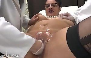 Tyro BBW french milf fisted analyzed and facialized in 3way on tap burnish apply gyneco