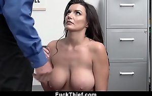 Heavy Tits Mommy Forbidden Filching Lets Security Creampie Her