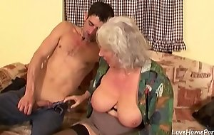 Granny is placidness completely a skilled cock pleaser