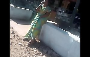 SATIN SILK SARE AUNTY FINGERING On touching Set forth