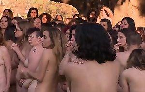 Spanish nudist body of men group