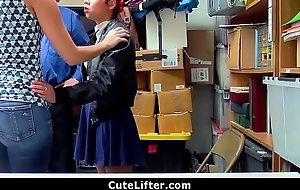 Mom Fucked By Security Officer For Daughter's Shoplifting