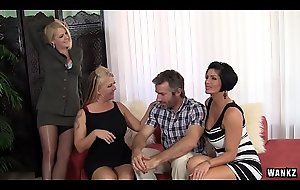 WANKZ- Group Sex prevalent Hot Cougar MILFs