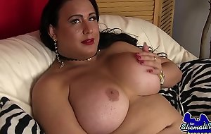 Be expeditious for age wanking tgirl enjoyments her dick