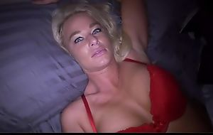 Perverted blonde mom deepthroats stiff shaft and gets screwed in POV