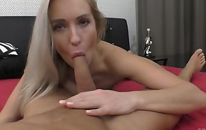 Enlivened European babe with natural breasts gets adorably fucked