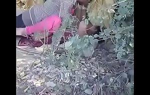 Desi Indian housewife fucked outdoors