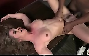 White girl convinced to go for jism from black cock 7