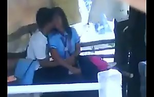 school students smooching giving a kiss outdoor sex mms