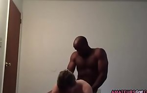 AmateursGW - Cuckold become man giving BJ before fucking Big black cock Fidelity 1