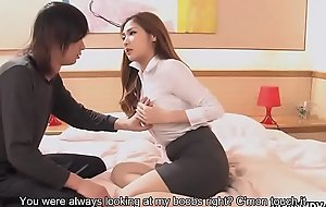 Big caked Asian instructor gets facialized mesh dramatize expunge sex lesson