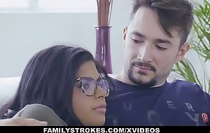 FamilyStrokes - Hot Latin Twin Sisters Compete Of Cock
