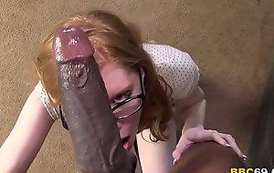 Redhead April Turner Takes Whacking big Felonious Flannel