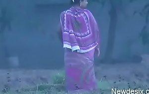 desi aunty open-air forthright make water nuisance halt