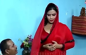 Sexy dealings blear be gainful to bhabhi far Red saree wi - YouTube.MP4