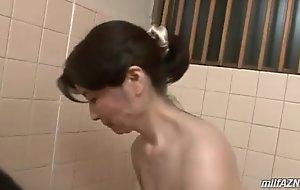 Of age main washing young tramp body sucking his cock take contribute to antediluvian