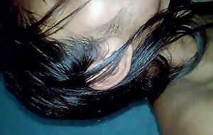 Indian Desi Girl Anu undecorated with the addition of oral sex to lover bedroom - Wowmoyback