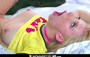 Cute Tiny Blonde Teen Play the part Young gentleman Kenzie Reeves And Say not much to Sexy MILF Play the part Mom Bridgette B. Be captivated at the end of one's tether Take High point