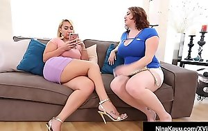 Horny Nympho Nina Kayy Shares Big black cock With Maggie Green!